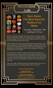 DecoRadio lecture flyer NY